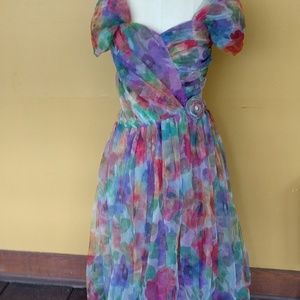 Vintage Boho Party Dress made in the USA